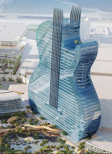 Futuristisches Hotel in Form einer Rock-Gitarre: in Las Vegas soll ...