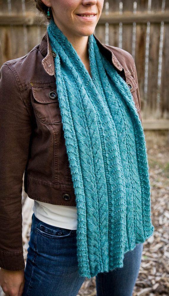 Knitting Pattern for Women\'s Scarf - Fancy Mae | Knitting patterns ...