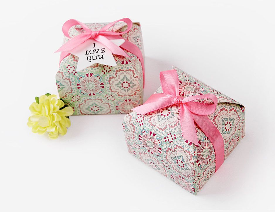 6 Small Dots Boxes Mini Boxes Small Gift Boxes Jewelry Boxes