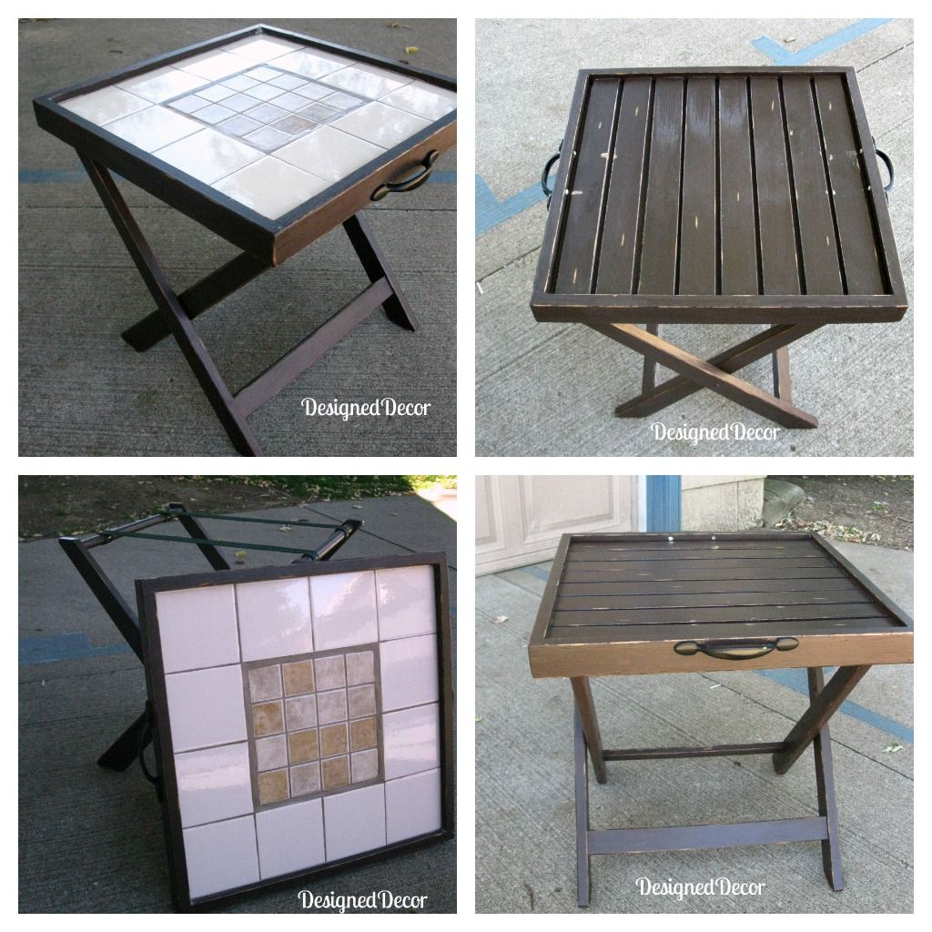 Repurposed folding accent table serving tray luggage rack repurposed folding accent table serving tray luggage rack geotapseo Image collections