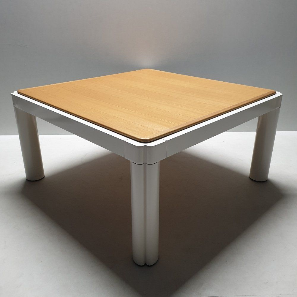 For Sale White Lacquered Kho Liang Ie Model 100 Coffee Table With Oak Top 1970s In 2020 Coffee Table Table Decor [ 1000 x 1000 Pixel ]