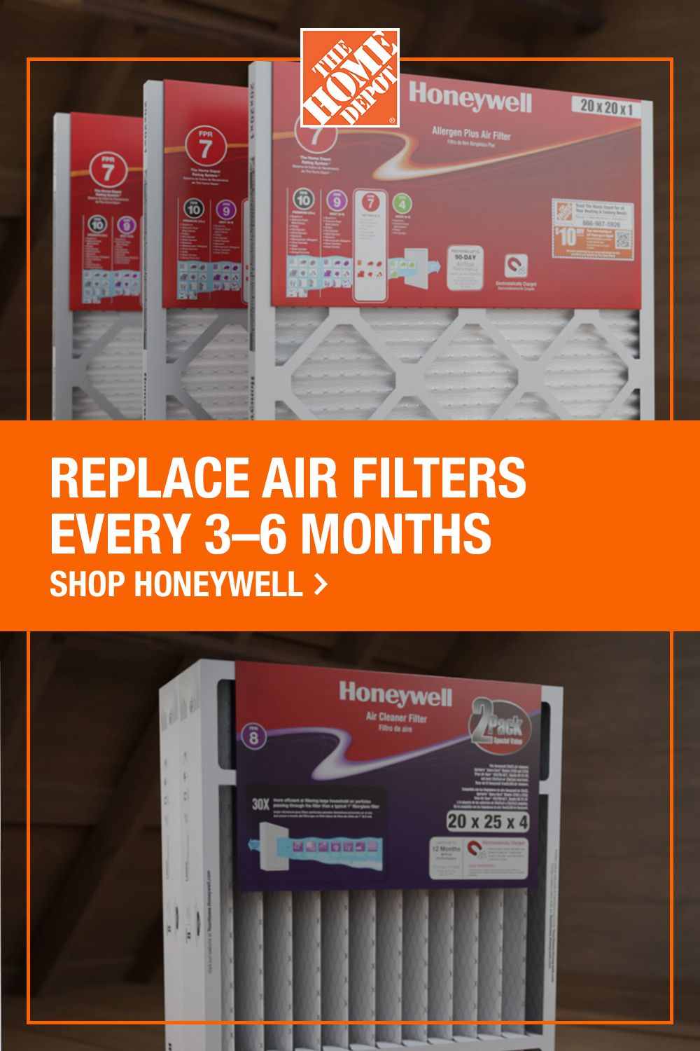 Refresh your air filters with Honeywell from The Home