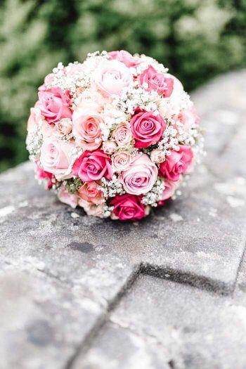 Brautstrauß mit Rosen in rosa | Ganz viele Beispiele in der großen Bildergalerie