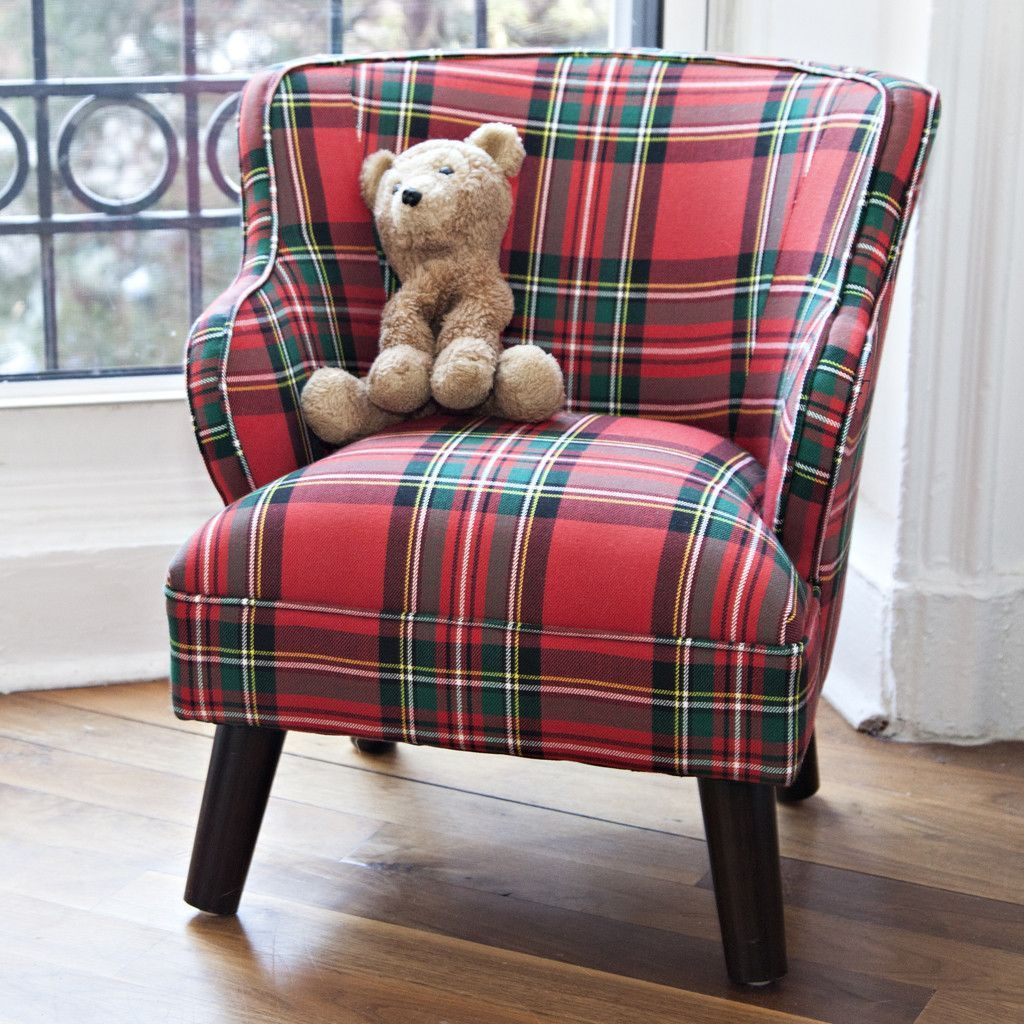 Mini Chair In Stewart Plaid Comfychair Koltuklar