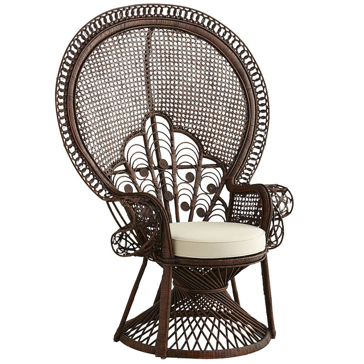 Peacock Armchair   Tobacco Brown | Pier 1 Imports
