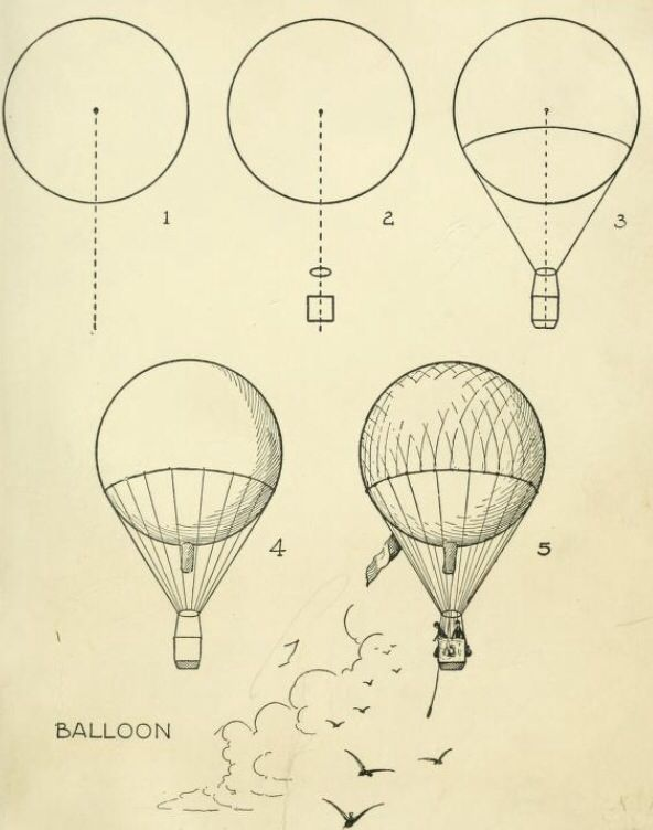Hot Air Balloon Hot Air Ballon Drawing Balloon Illustration Balloon Painting
