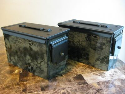 AMMO CAN HANDGUN CASE, VERY COOL, DOUBLE GUN, .50 AMMO BOX, .50 CAL, Kryptek Hydro Dipped #gunsammo
