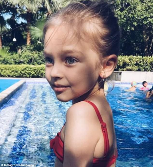 Eight-year-old hailed the'most beautiful girl in R