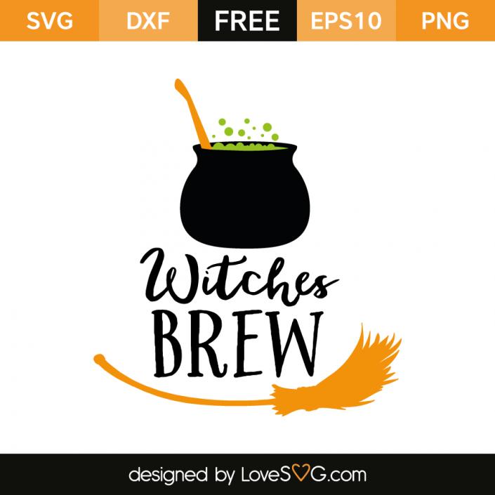Witches Brew Halloween bottle labels, Cricut monogram