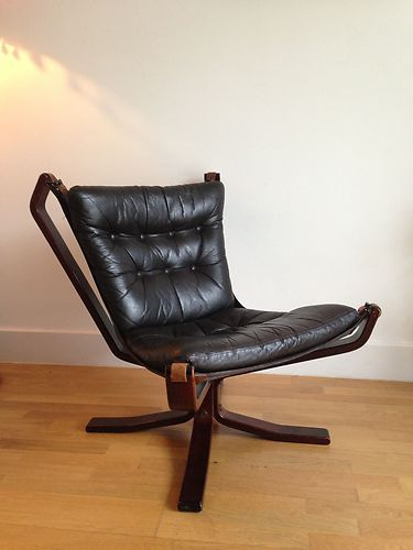 Vintage Leather Falcon Chair By Sigurd Ressel Bentwood Frame 1970s Vgc Ebay