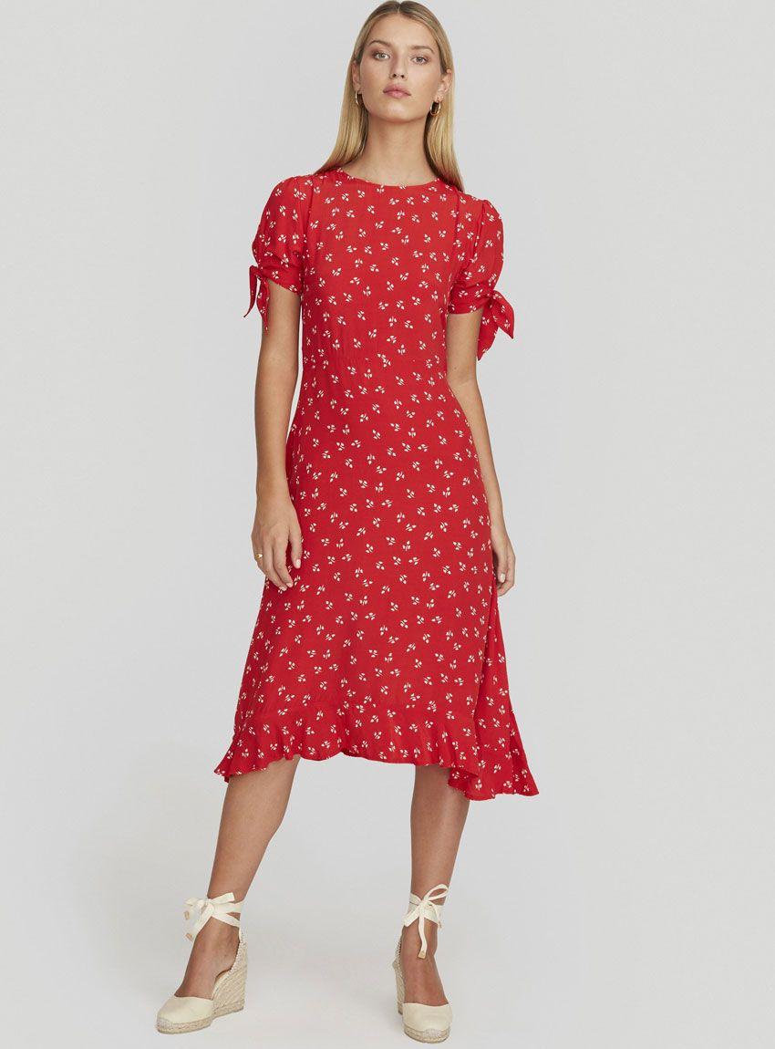 e8fab9ab1eb7 Emilia Midi Dress - Jeanne Print Cherry in 2019 | JUST IN | Dresses ...
