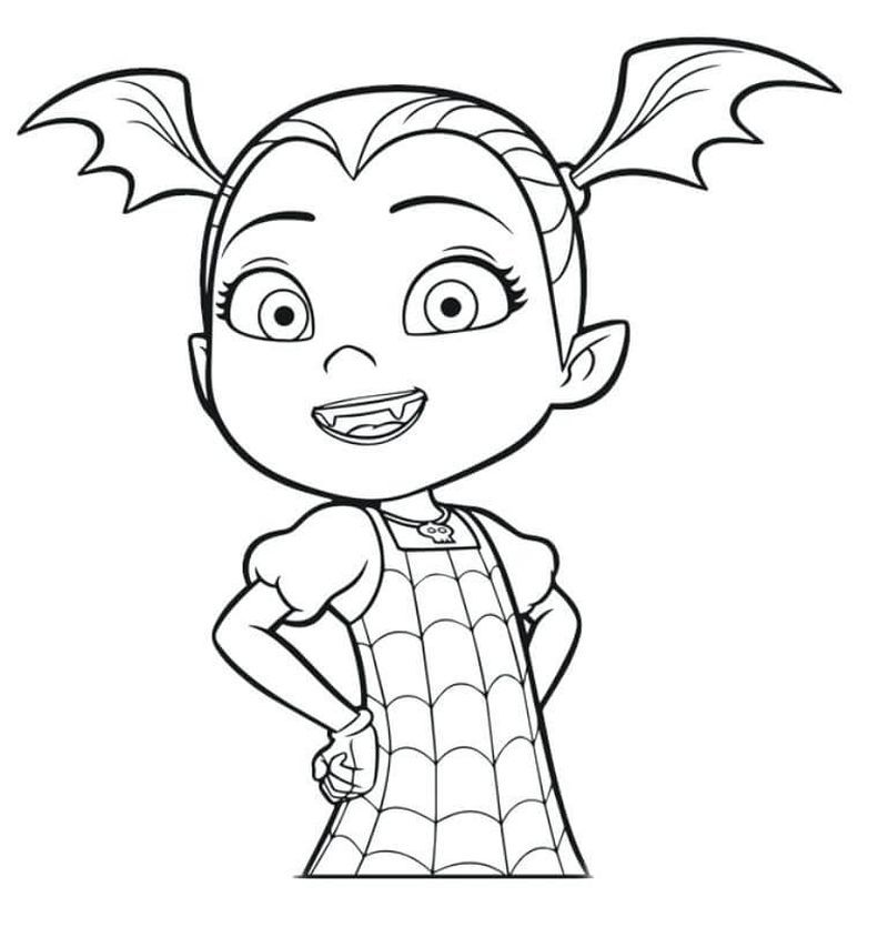 Free Printable Coloring Pages Vampirina Concept
