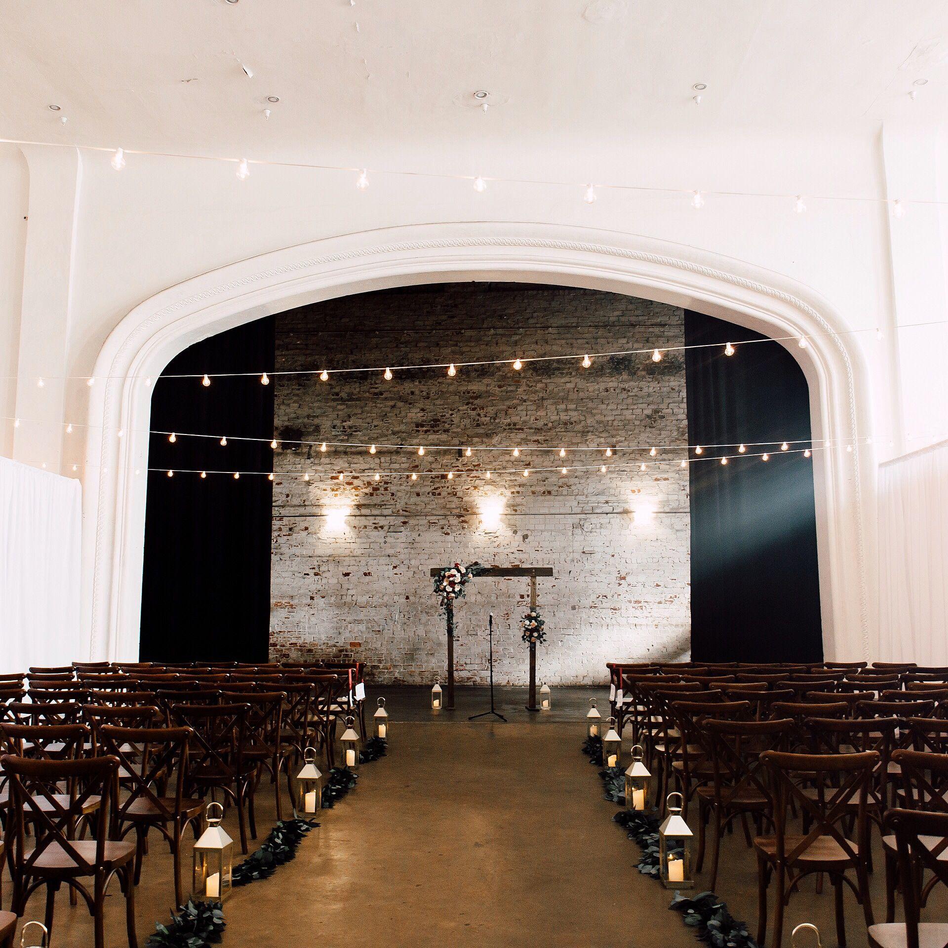 Indoor Bohemian Wedding Venue