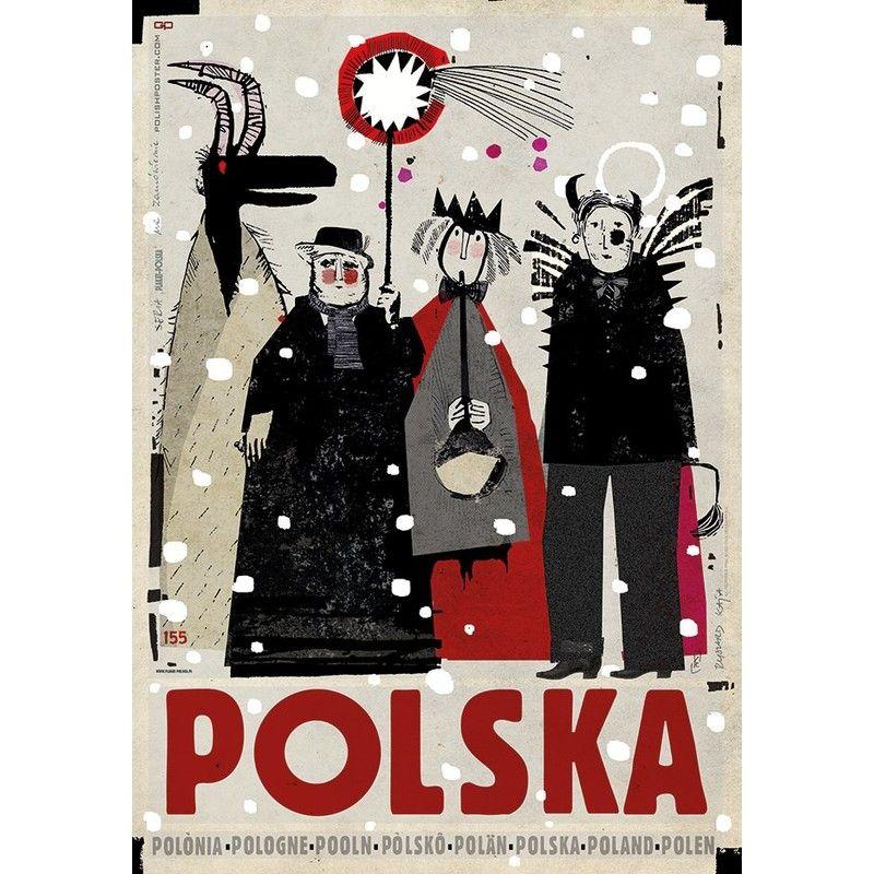 Poland Carolers Polish Poster By Ryszard Kaja Polish Poster Poster Poland