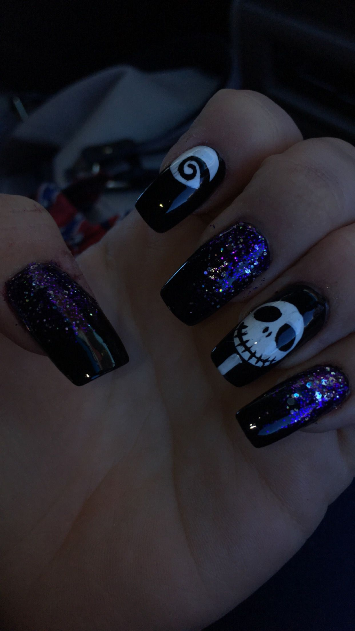 #halloweennails #jackskellington #acrylic #nailsdesign ...
