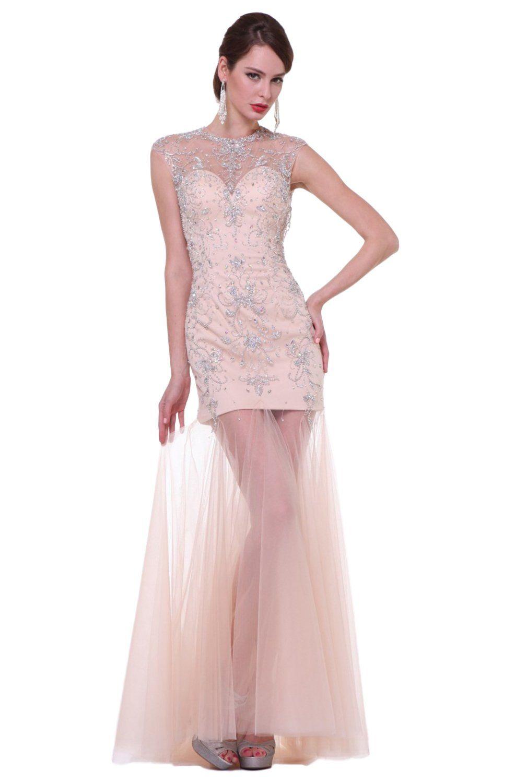 Cinderella Divine - C276 Beaded Strapless Trumpet Dress in