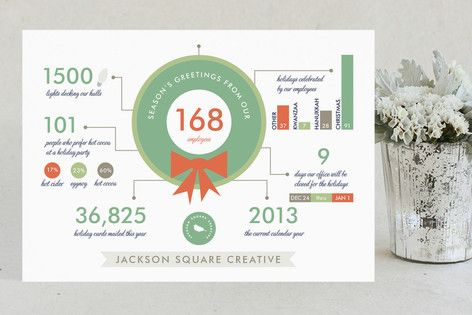 Holiday infographics business holiday cards by frooted design at minted com
