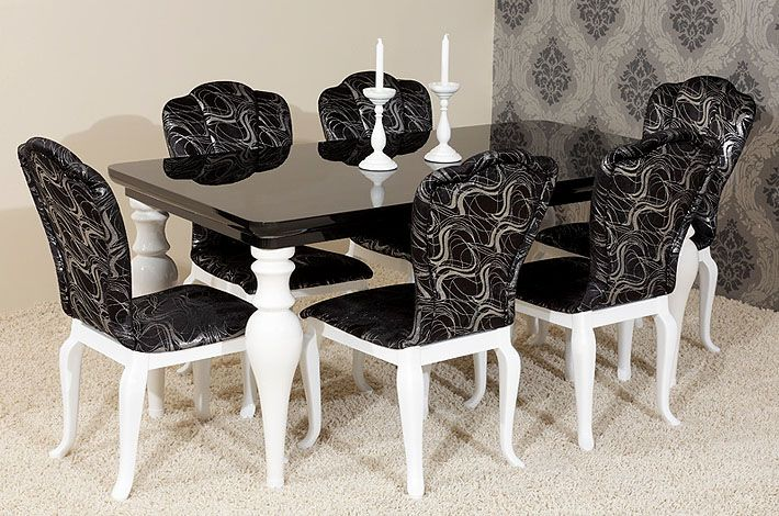Set Six Italian Black Lacquer Chinese Chippendale Dining Chairs Dining Chairs High Gloss Dining Room Black Dining Room Sets