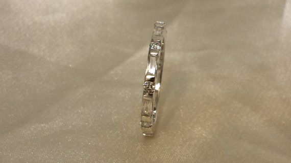 3MM Eternity Round Clear CZ  Wedding Band by StonedElements
