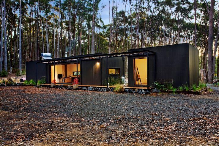Musk Bunker Modern Prefab Cabin By Modscape Prefab Cabins Modular Homes Prefab