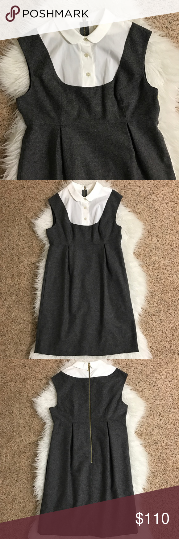 Kate Spade New York Dress Excellent condition, no sign of use but the collar has very light dirt that can be removed from washing. See pictures, you can't notice that it's there. kate spade Dresses Mini