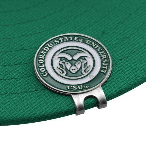 """NCAA Colorado State Rams Ball Markers & Hat Clip Set by Football Fanatics. $14.95. Fits most any brim. Vibrant enamel detailing. Includes two markers. Imported. Measures 1"""" in diameter. Colorado State Rams Ball Markers & Hat Clip SetIncludes two markersFits most any brimImportedDouble sided magnetic ball markerMeasures 1"""" in diameterOfficially licensed collegiate productVibrant enamel detailingDouble sided magnetic ball markerMeasures 1"""" in diameterIncludes two markersVi..."""