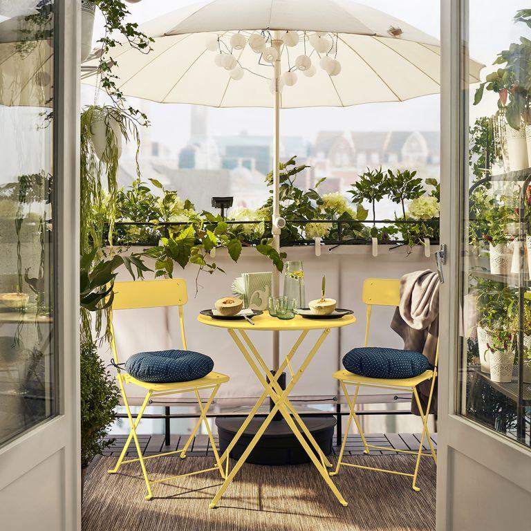 Shades Of Yellow Apartment Balcony Decorating Balcony Design Small Apartment Balcony Ideas
