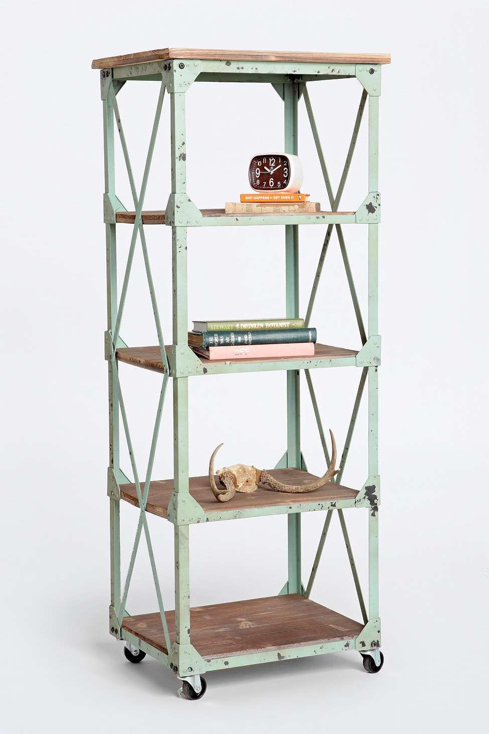 Factory Rolling Shelf Regal Bucherregal Design Dekor
