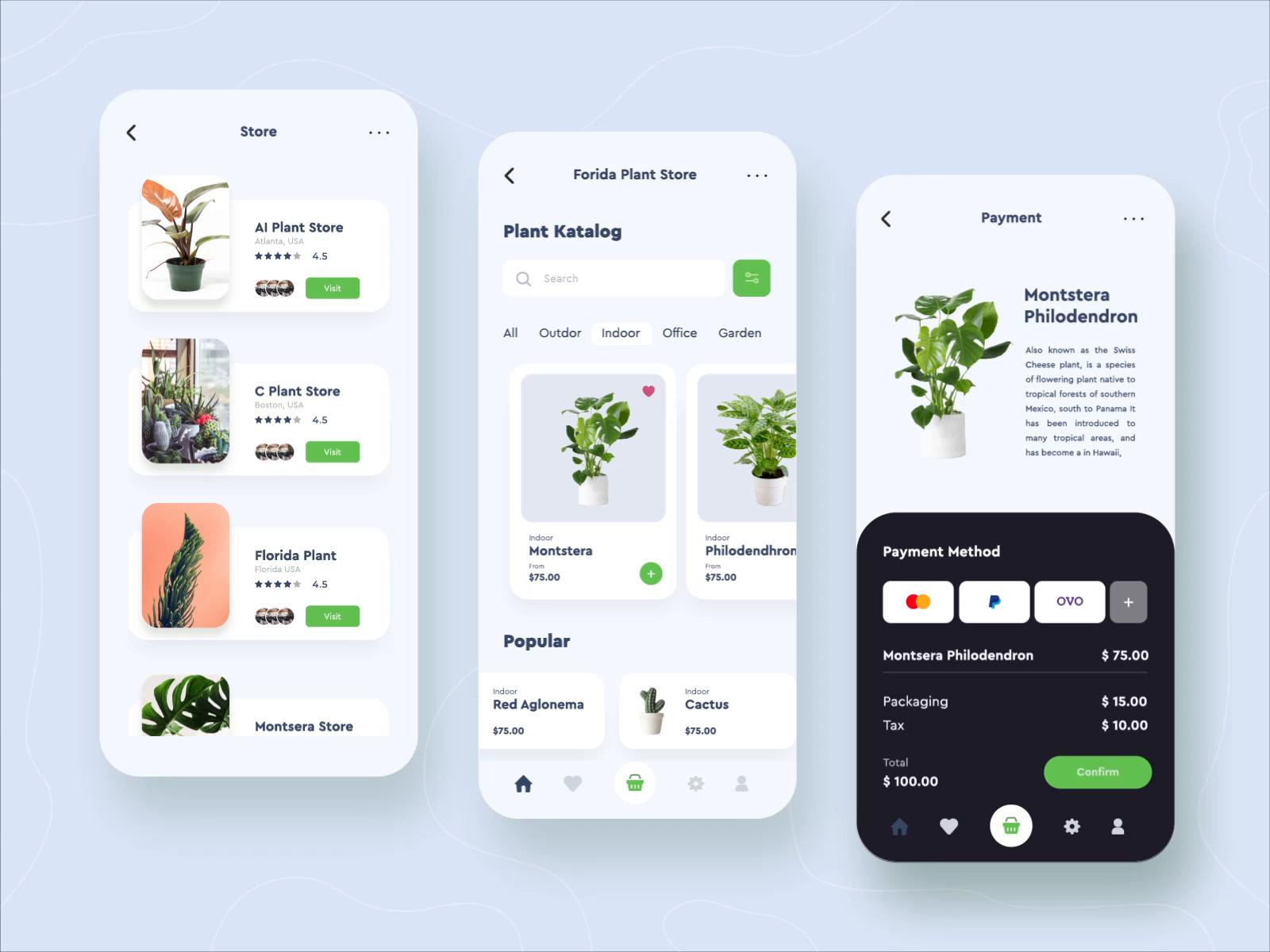 Online Plant Shop Mobile App Design By Permadi Satria Dewanto Desain App Desain Aplikasi Android Desain Ux