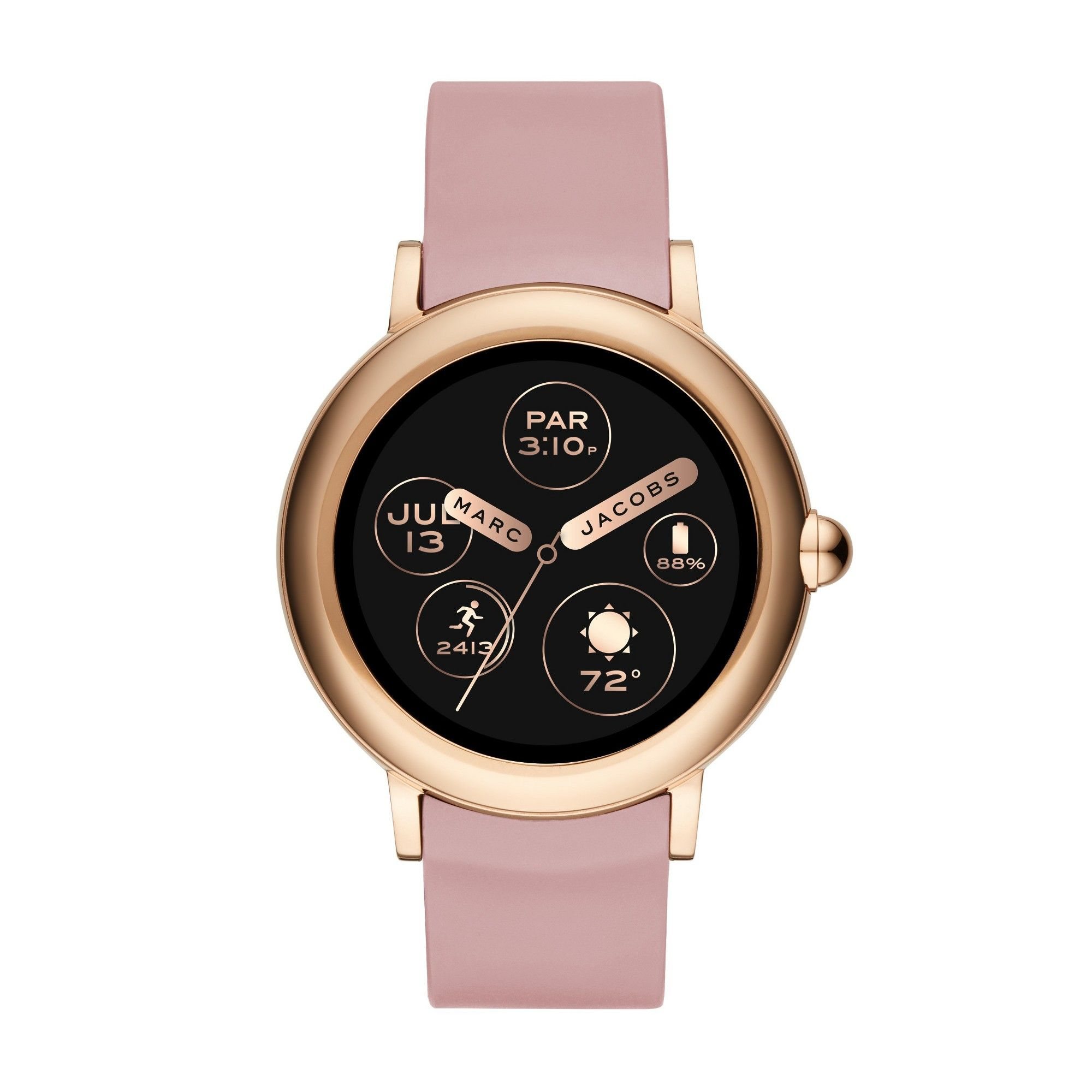 Marc Jacobs Riley 42mm Smartwatch Rose Gold Marc Jacobs Smart Watch Leather Watch Strap