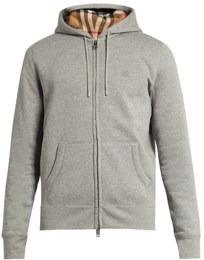 f940d155245 BURBERRY BRIT Zip-through jersey hooded sweatshirt