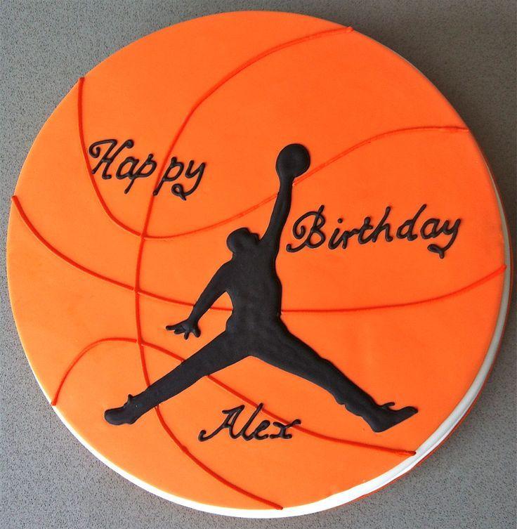 Открытка баскетбол с днем рождения