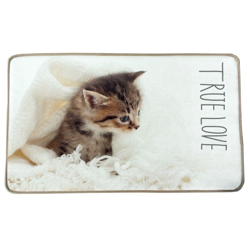 home d?cor on a budget 41x58cm Lovely Cat Print Custom Carpet Non ...