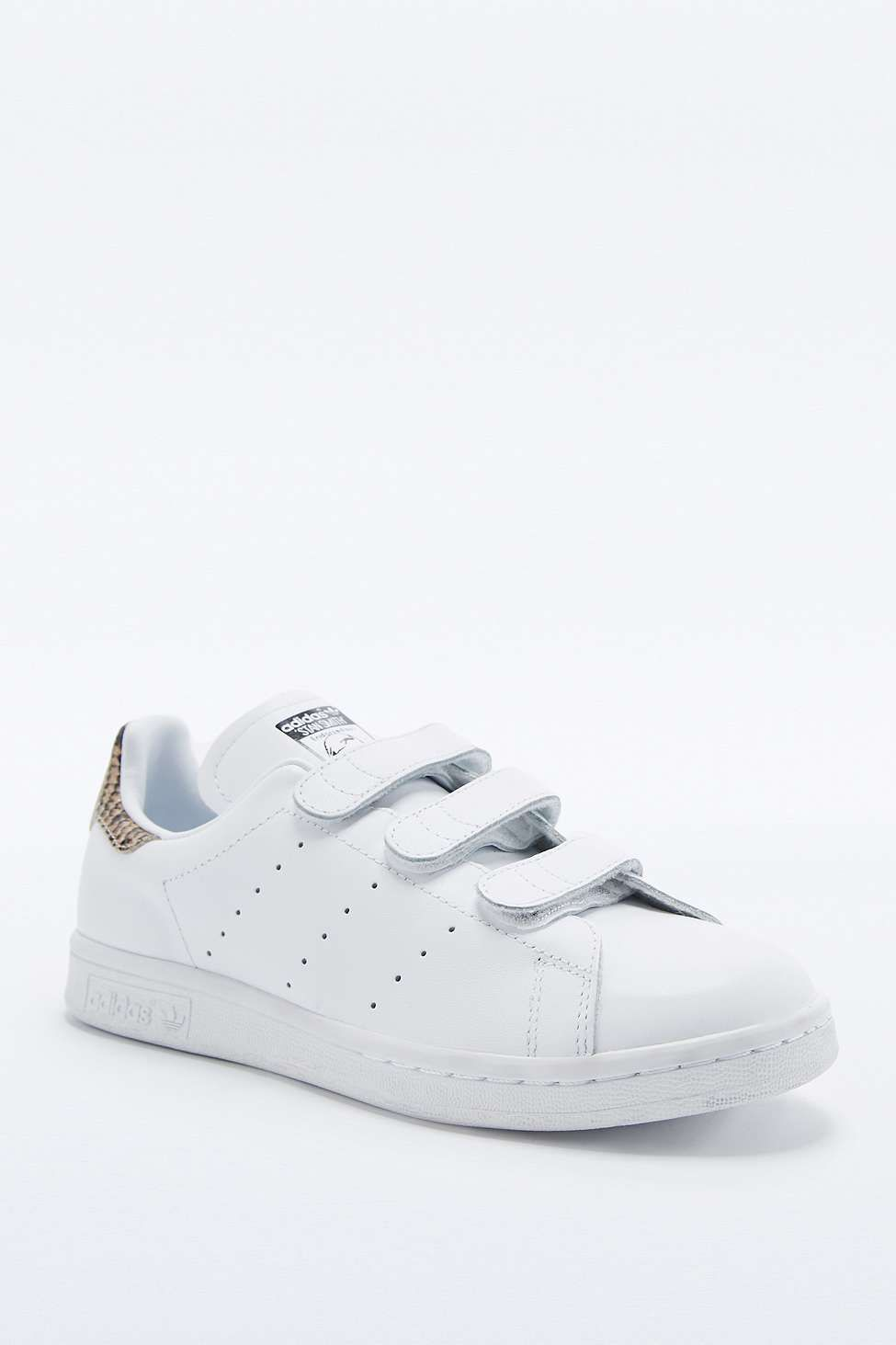 adidas Originals White Snake Velcro Stan Smith Trainers