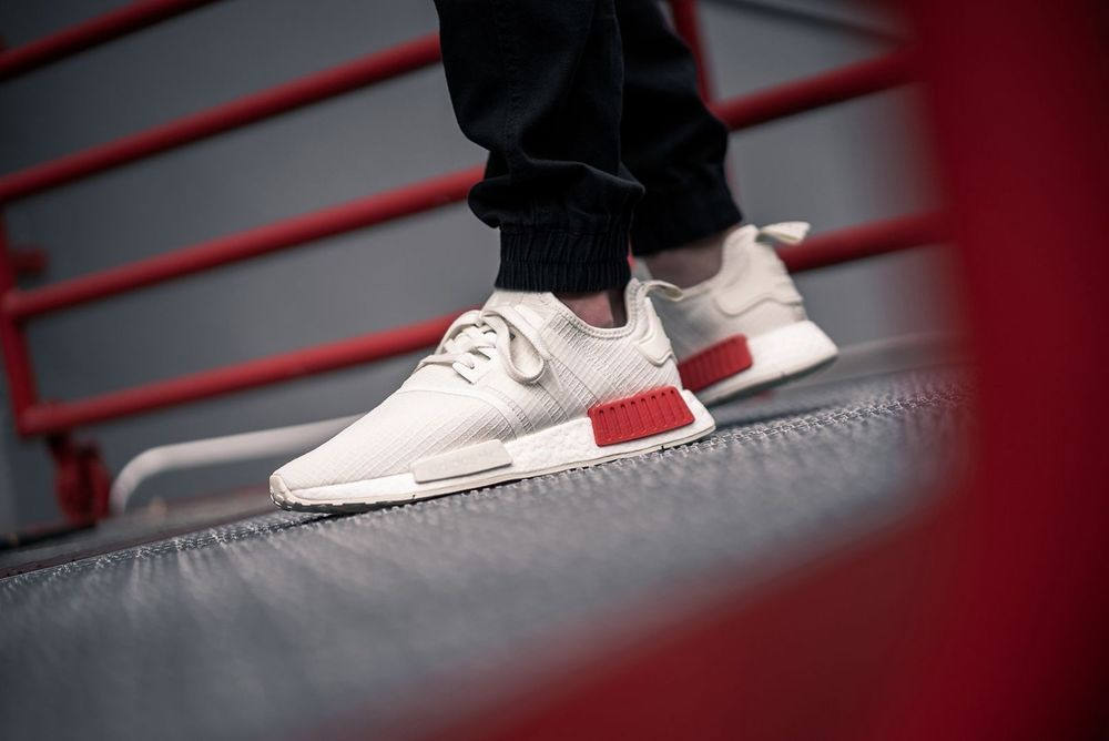 best service 715c2 1f96a adidas NMD_R1 | Off White/Lush Red | Mens Trainers [B37619 ...