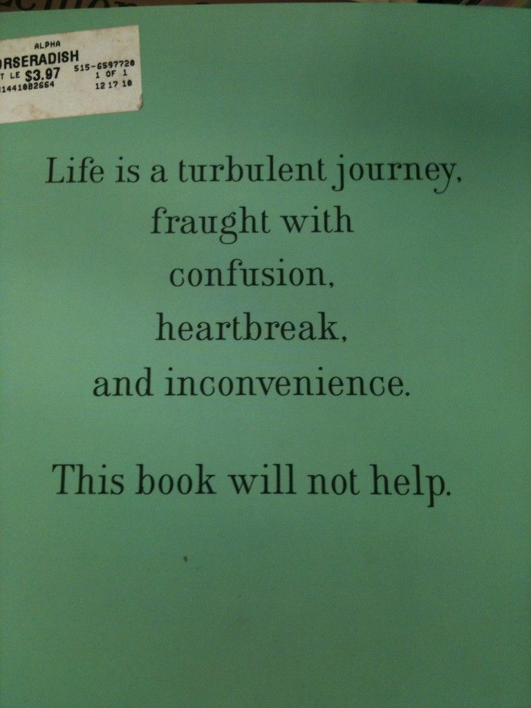 Life, According To Lemony Snicket One Of Those
