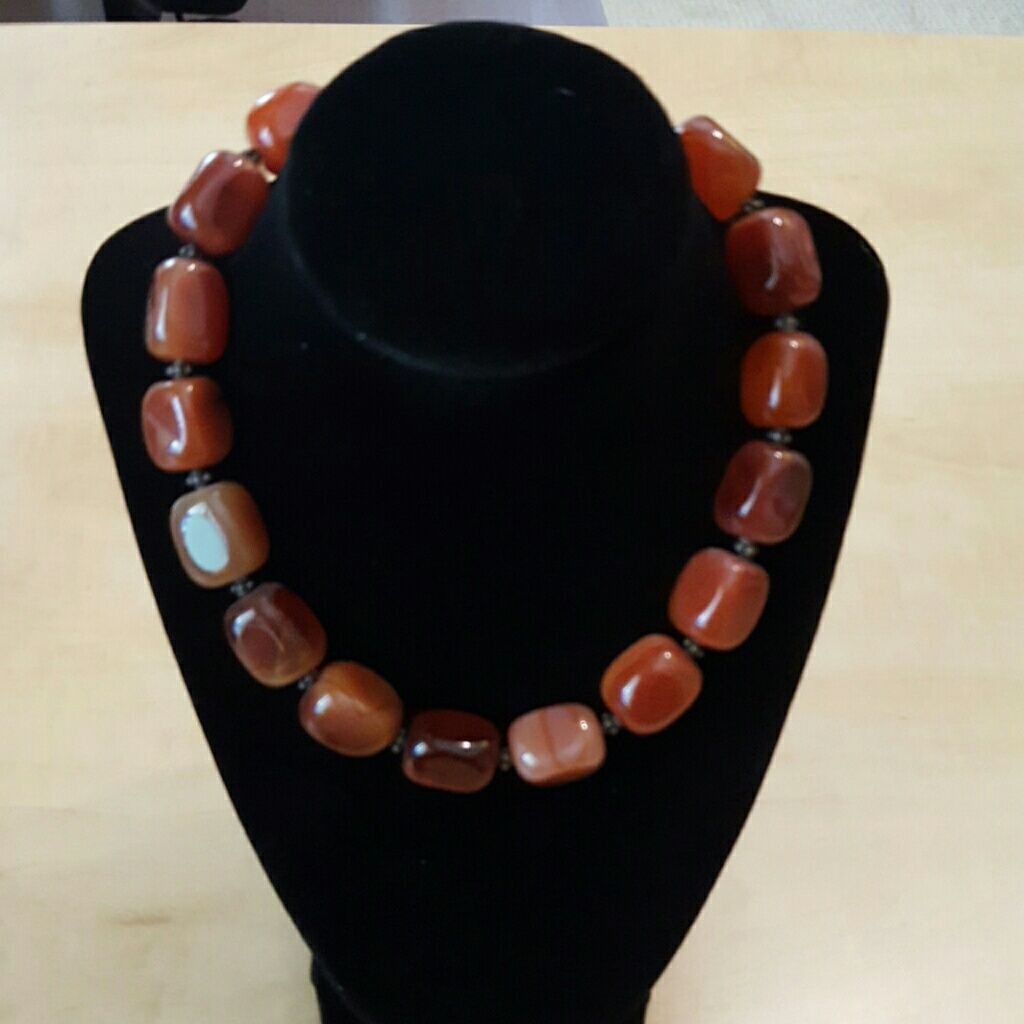 Chunky Handmade ReddishBrown Necklace Products