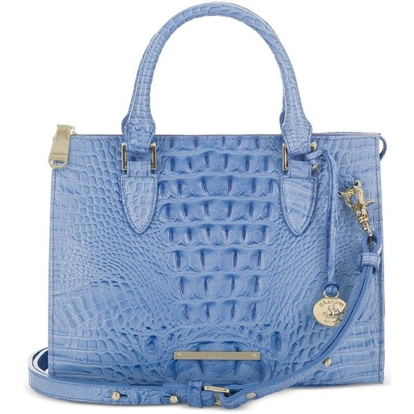 Brahmin Melbourne Anywhere Convertible Satchel 245 Liked On Polyvore Featuring Bags Handbags Regatta Crossbody Blue Purse