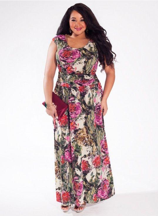 787e8a338bc Mally Plus Size Maxi Dress in Rose Garden  plussize  plussizefashion Trendy  Curvy