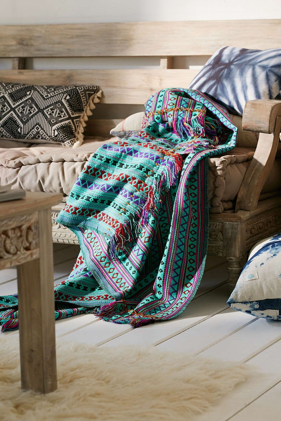 Mantita Embroidered Throw Blanket College In 2019 Home