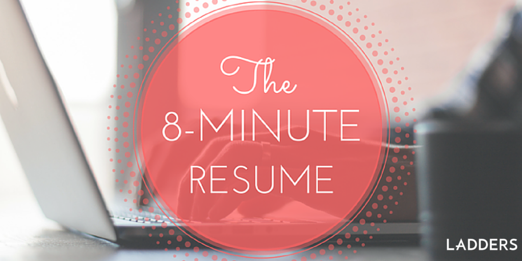 The 8 Minute Resume Resume Builder And Nifty