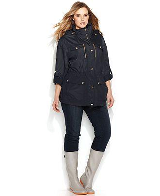d80a5209c43 MICHAEL Michael Kors Plus Size Roll-Tab-Sleeve Anorak - Plus Size Coats - Plus  Sizes - Macy's