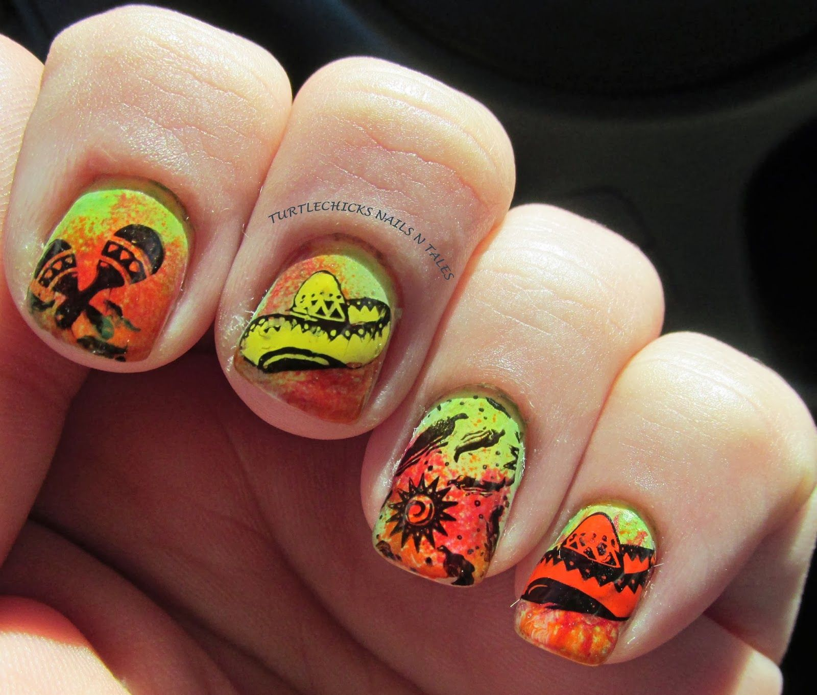Turtlechicks nails n tales mexican nails my nail art turtlechicks nails n tales mexican nails prinsesfo Image collections