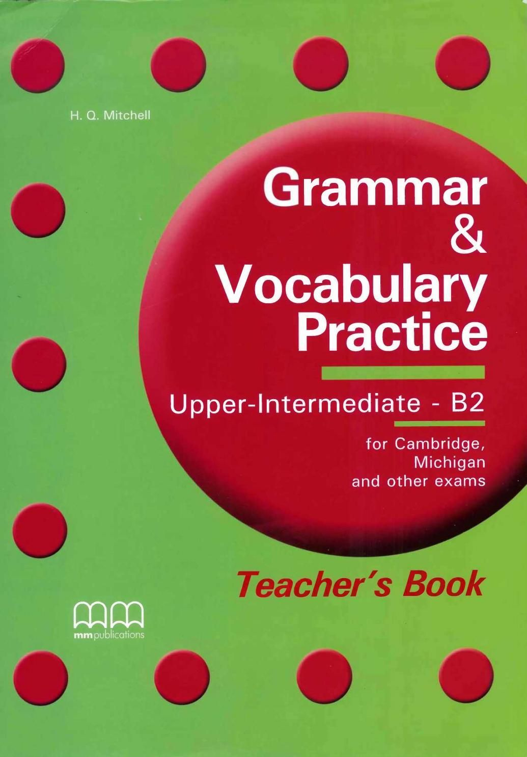grammar and vocabulary practice upper intermediate b2 teacher's book pdf