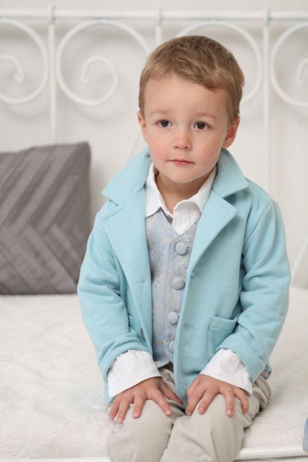 Taufbekleidung Baby Jungen Sweatblazer Hochzeit Taufe Blazer