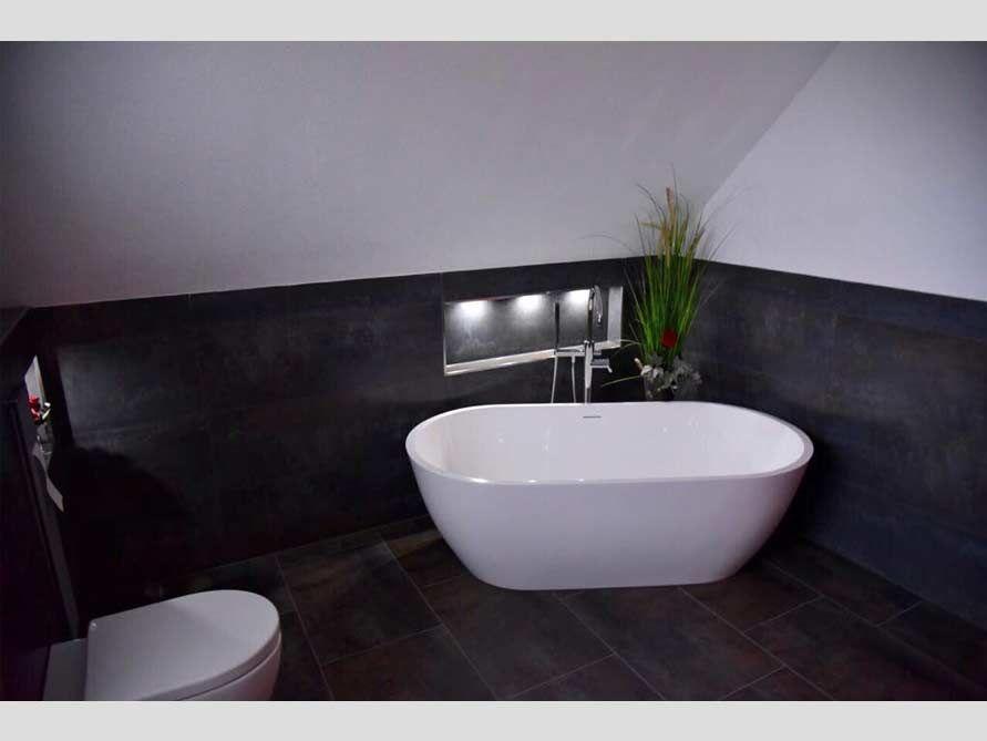 Freistehende Badewanne Montecristo aus Mineralguss - Weiß matt oder
