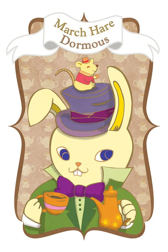 March Hare And Dormouse Alice In Wonderland Dormouse Alice In