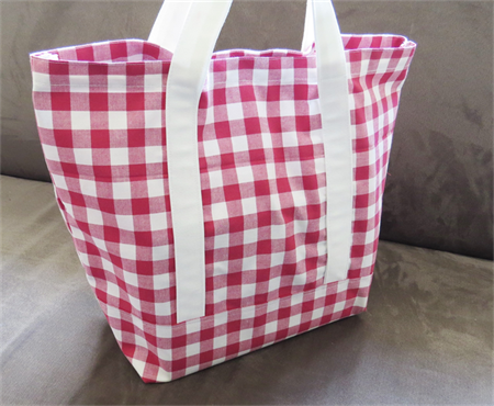 Red Gingham Market Tote