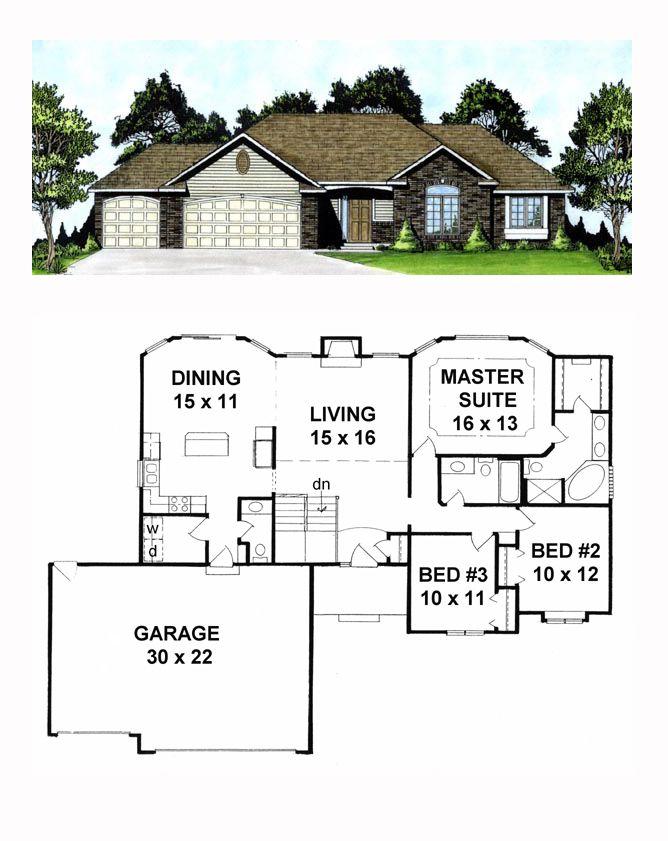 Ranch House Plan Chp 19516 Best House Plans House Plans Ranch
