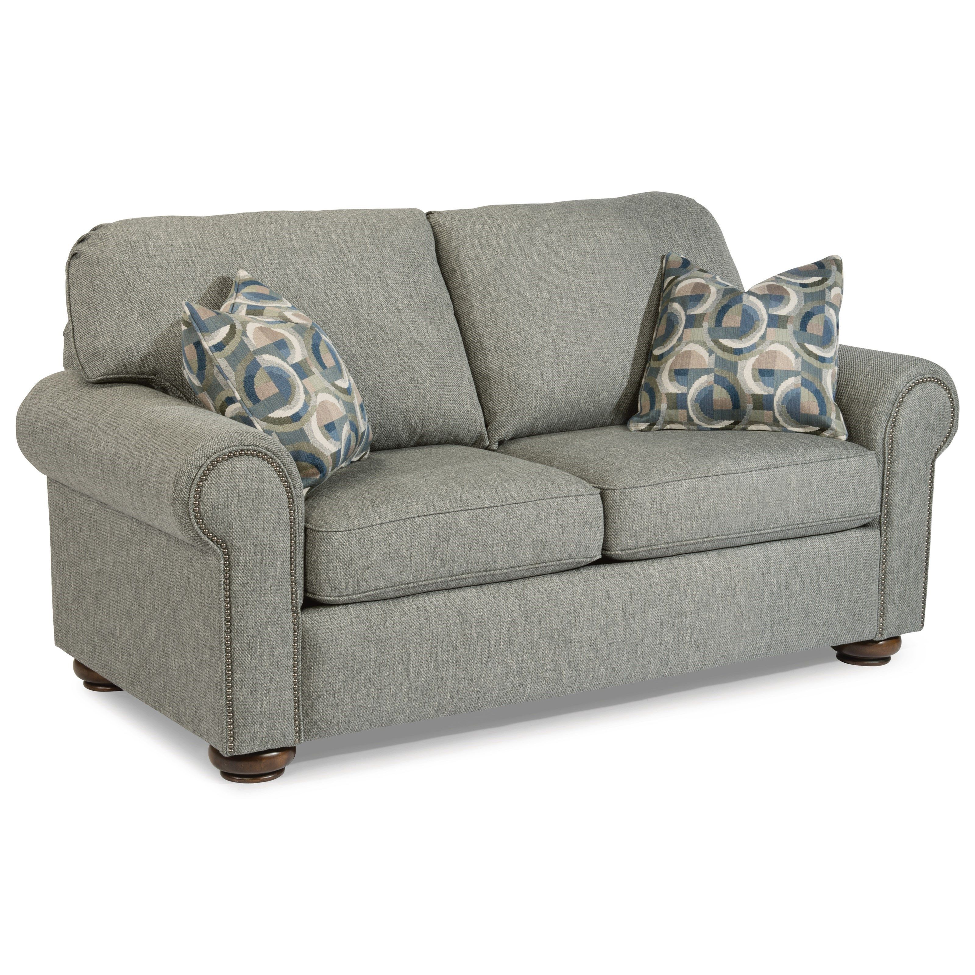 Patio Furniture Beaumont Texas: Preston Traditional Loveseat With Nailhead Trim By